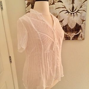 NY Collection Plus Size White Blouse